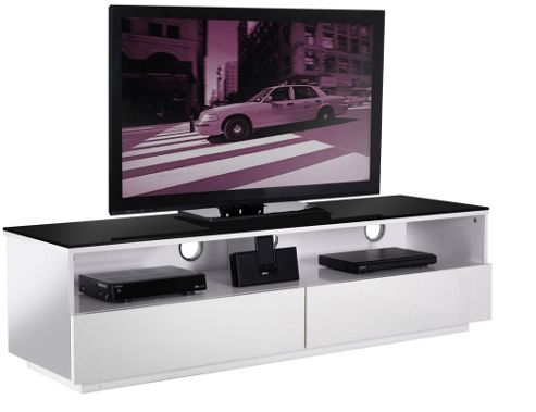 UK-CF High Gloss White Cabinet For TVs up to 60 inch
