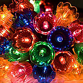 Noma 40 Multi Coloured Indoor Static Canterbury Belles Fairy Lights