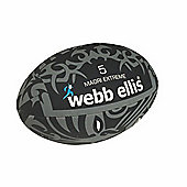 Webb Ellis Maori Extreme Flag Rugby Ball Black Size 5