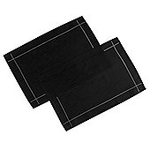 Home Creations Linen Look Placemat (Set of 2) - Black