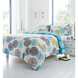 Fusion Kiera Mineral Quilt Cover Set - Double