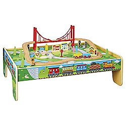 Carousel Train Table + 56 Piece Train Set