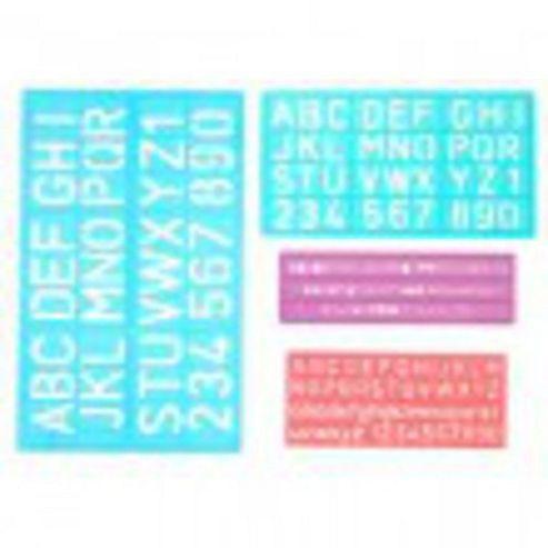 Jakar Lettering Stencils 4 Pk