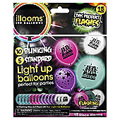 Illoom 15 Pack Ligh Up Balloons 5 Blink 10 Standard