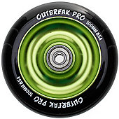 Slamm Black/Slime Green Anodised Metal Core Scooter Wheel and Bearings