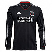 2011-12 Liverpool Away L/S Football Shirt (Kids) - Black