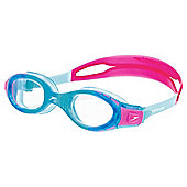 Speedo Junior Futura Biofuse Swimming Goggles, Blue/Pink