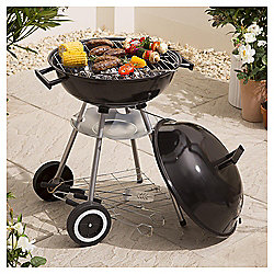Tesco Kettle Charcoal BBQ Starter Set with Cover & 3 Tools, Black