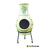 LA HACIENDA GREEN TREE HAND PAINTED CLAY CHIMENEA