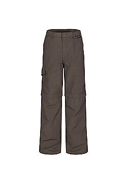 Regatta Kids Sorcer Zip Off Trousers - Brown