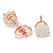 QP Jewellers 0.70ct Opal Classic Stud Earrings in 14K Rose Gold