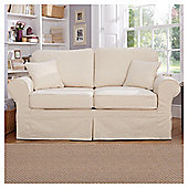 Louisa Loose Cover Fabric Sofa Bed Cream Jaquard