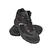 Traveller Mens Waterproof Walking Hiking Breathable Rubber Sole Shoes Boots - Black