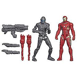 Marvel Avengers Age of Ultron Iron Man Mark 45 Vs. Sub-Ultron 010