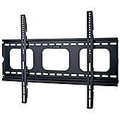 Black Universal Super Thin Fixed Wall Mount Bracket up to 60 inch