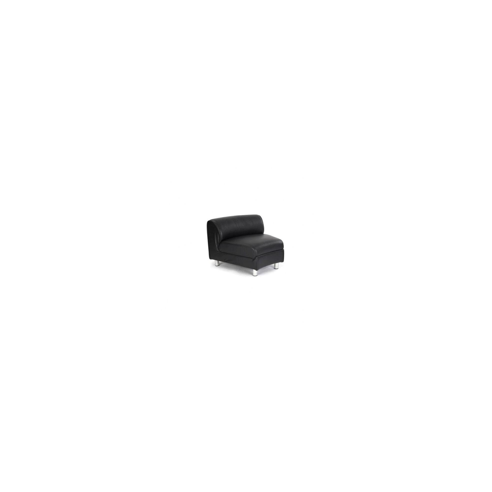 Enduro 65 cm x 85 cm Black Leather Convex Modular Sectional at Tesco Direct