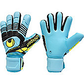 Uhlsport Eliminator Absolutgrip Hn Junior Goalkeeper Gloves - Blue