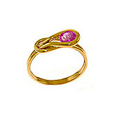 QP Jewellers 0.65ct Pink Topaz San Francisco Ring in 14K Rose Gold