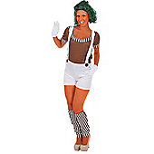 Women's Oompa Loompa Costume (And Wig) Large