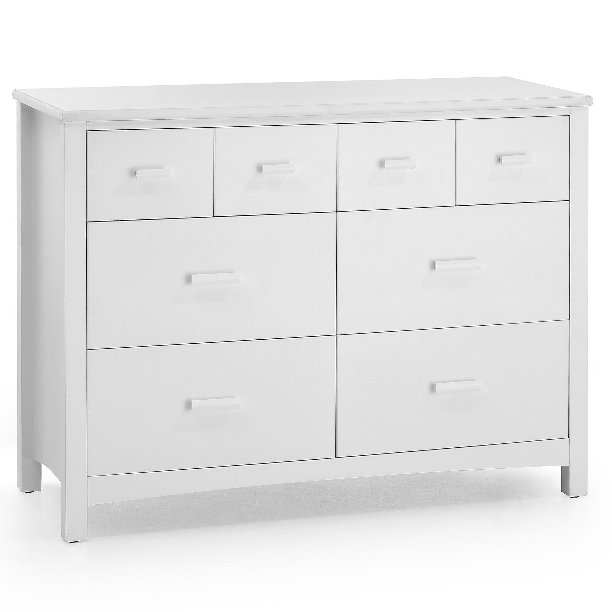 Serene Furnishings Eleanor 8 Drawer Chest - Opal White at Tesco Direct