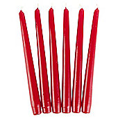 Tesco red unfragranced dinner candles 6pack