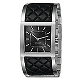 Esprit Catelli Ladies Black Leather Trim Watch - ES105922001