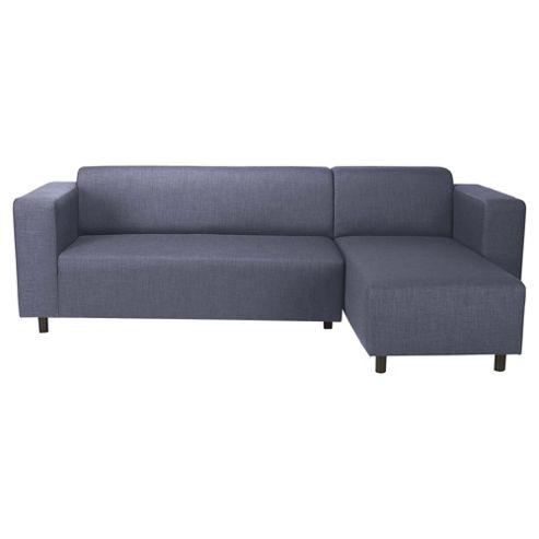Stanza Fabric Corner Sofa Indigo Right Hand Facing