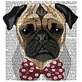Pug Dog Canvas 40x40cm
