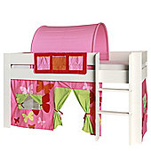 Kids World Midsleeper with Pink Patterned Tent/Pockets/Tunnel