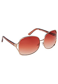 F&F Cut-Out Detail Square Oversized Sunglasses