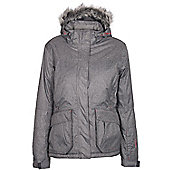 Silver Summit Womens Winter Ski Snowboarding Jacket Coat - Grey