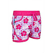 Girls Hawaiian Boardshorts - Purple