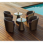Varaschin Gardenia Chair by Varaschin R and D - Dark Brown - Panama Castoro