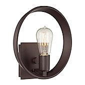 Quoizel Uptown Theater Row 1 Light Semi Flush Light - Western Bronze