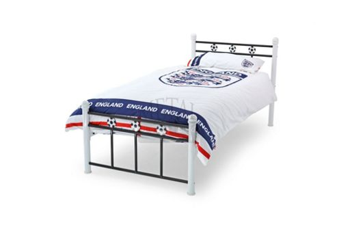 MetalBedsLtd Soccer Single Bed Frame - Green / White