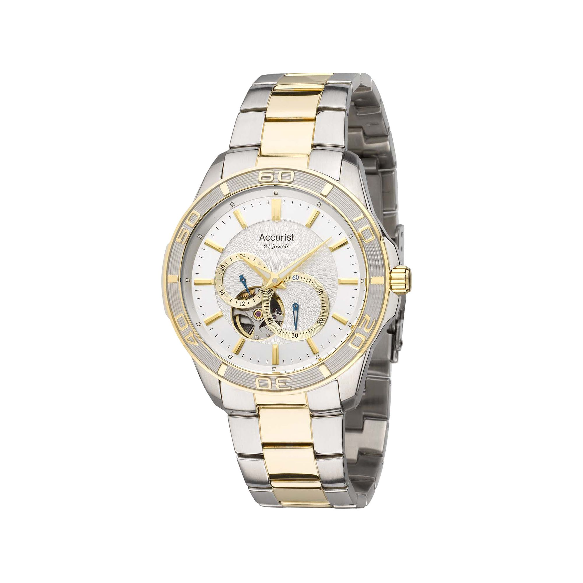Accurist Gents Automatic 2 Tone Bracelet Watch MB911S at Tesco Direct