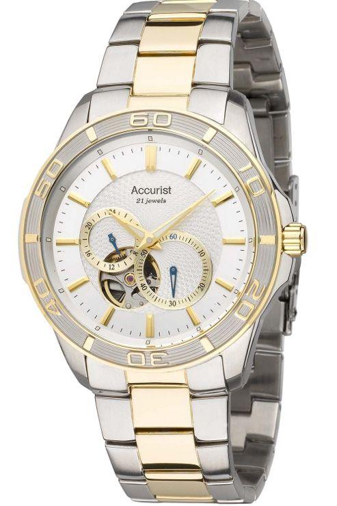 Accurist Gents Automatic 2 Tone Bracelet Watch MB911S