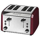 Waring WT400RU 4 Slice Toaster - Red & Stainless Steel