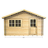 13ft x 16ft (4m x 5m) Log Cabin - Double Glazing (44mm Wall Thickness)