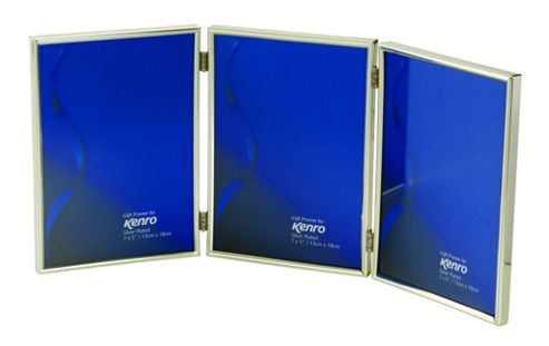 Kenro Symphony Classic Silver Photo Frame to hold three 7x5