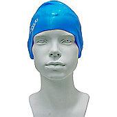Speedo Junior Plain Moulded Silicone Swimming Cap - Blue