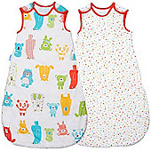 Grobag Twin Pack Spotty Bear 1 Tog Sleeping Bags (0-6 Months)