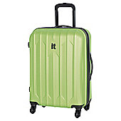 IT Luggage Ultra Strong 4-Wheel Hard Shell Suitcase, Lime Medium