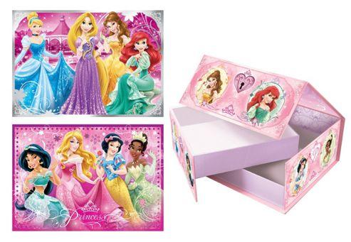 Disney Princess - Princess Gift Box With 2 Puzzles - Jumbo