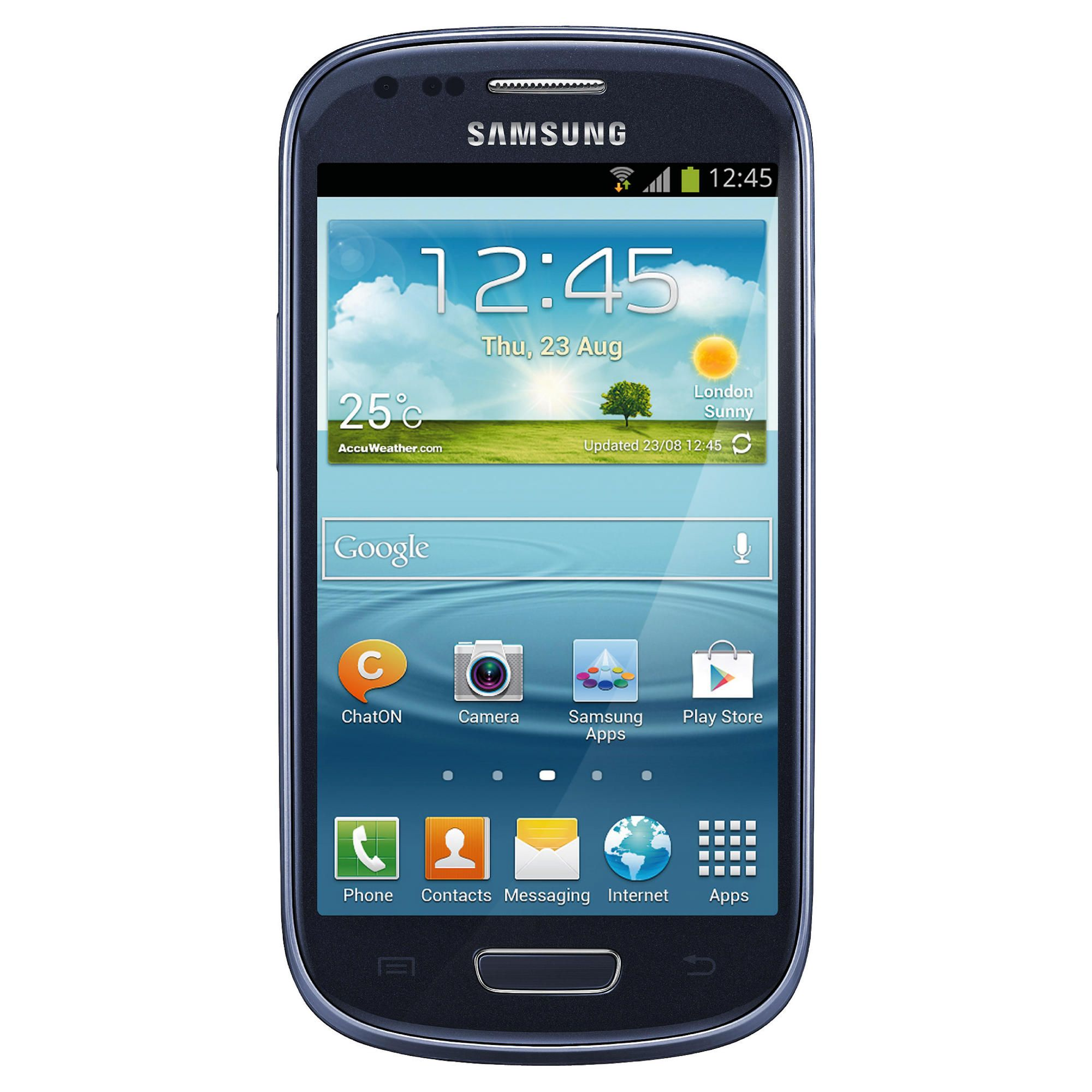 Tesco Mobile Samsung Galaxy SIII Mini Blue at Tesco Direct