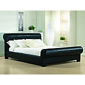 "Altruna Valencia Bed Frame - Double (4' 6"") - Black"