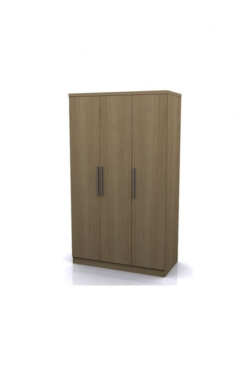 Altruna Manhattan 3 Door Robe Wardrobe - Oak