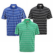 Woodworm Pro Pencil Striped Mens Golf Polo Shirts 3 Pack Small