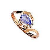 QP Jewellers Diamond & Tanzanite Flare Ring in 14K Rose Gold