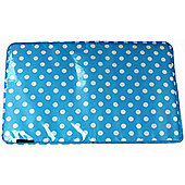Miracle Large Padded Change Mat Blue Polka Dot